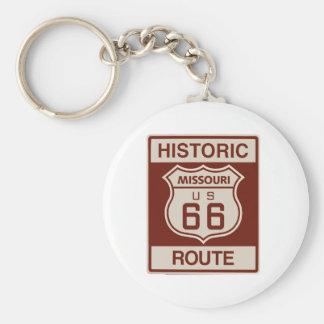 Historic Missouri Rt 66 Key Ring