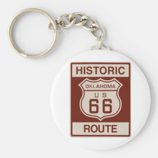 Historic Oklahoma RT 66 Key Ring