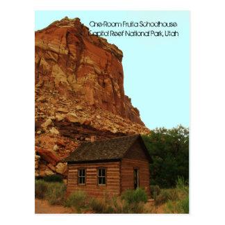 Historic One-Room Fruita Schoolhouse Postcard