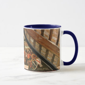 Historic painting on wooden bridge, Lucerne Mug
