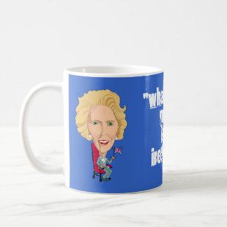 Historic PM Margaret Thatcher Caricature British Coffee Mug