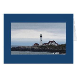 Historic Portland Head Lighthouse Greeting Card