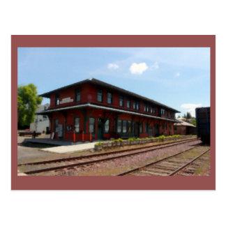 Historic Potlatch Railway Depot Postcard