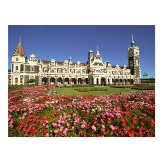 Historic Railway Station, Dunedin, New Zealand Postcard