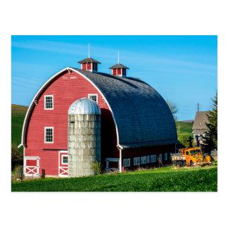 Historic Red Barn - Palouse Region - Washington Postcard