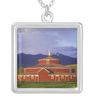 Historic Round Barn at Twin Bridges Montana Silver Plated Necklace