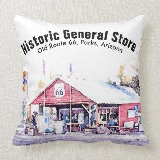 Historic Route 66 Arizona General Store Watercolor Cushion