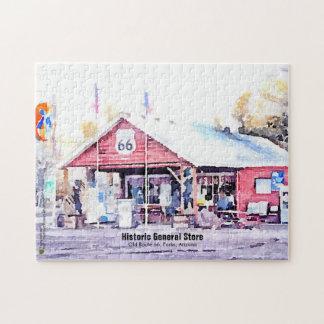 Historic Route 66 Arizona General Store Watercolor Jigsaw Puzzle