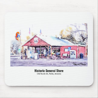Historic Route 66 Arizona General Store Watercolor Mouse Mat