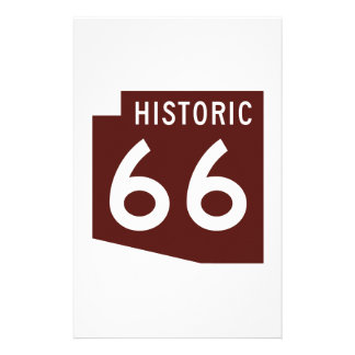 Historic Route 66 - Arizona State Map Custom Stationery