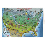 Historic Route 66 Cartoon Map Greeting Card