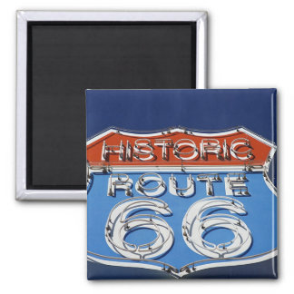 Historic Route 66 Refrigerator Magnet