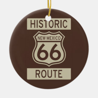 Historic Route 66 New Mexico Round Ceramic Decoration