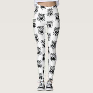 Historic Route 66 sign Leggings