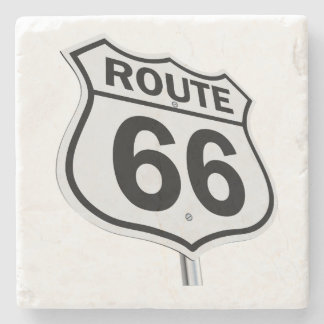 Historic Route 66 Stone Beverage Coaster