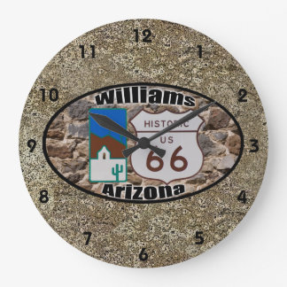Historic Route 66 ~ Williams, Arizona Large Clock