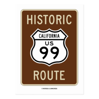 Historic Route US Highway 99 (California) Postcards