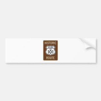Historic Route US Route 101 (California) Sign Bumper Sticker