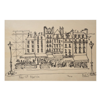 Historic Rue St. Martin, Paris, France Wood Print