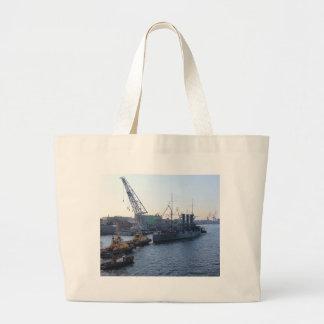 Historic Russian Cruiser Aurora Tote Bags