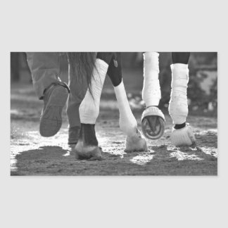 Historic Saratoga Race Course-Step Nicely Rectangular Sticker