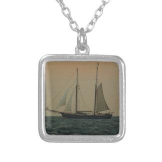 Historic Schooner Personalized Necklace