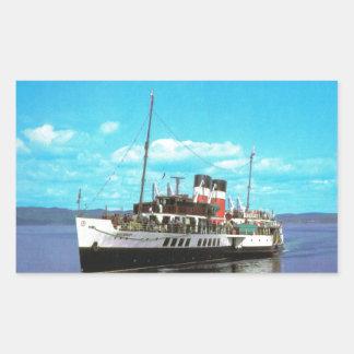 Historic Ships Waverley, British steam yacht Rectangular Sticker