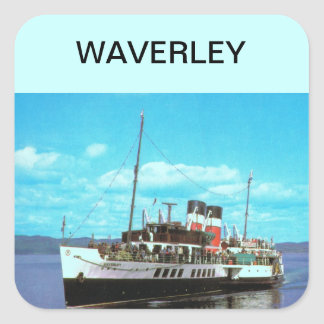 Historic Ships Waverley, British steam yacht Square Sticker