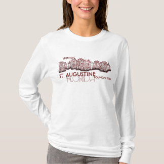 Historic St. Augustine Florida red ladies shirt