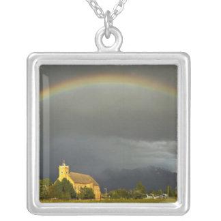 Historic St Ignatius Mission in St Ignatius, 2 Silver Plated Necklace
