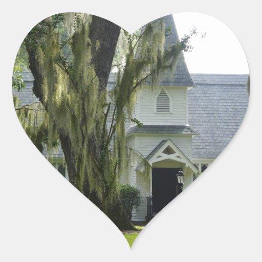 Historic St Simon Heart Stickers