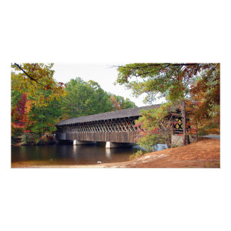 Historic Stone Mountain Georgia Covered Bridge Photo Greeting Card