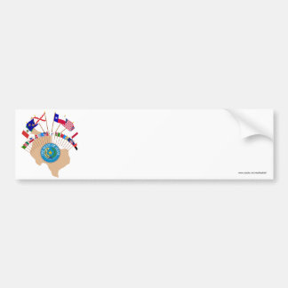 Historic Texas Flags, Seal and Olde Tyme Map Bumper Sticker