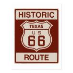 Historic Texas RT 66 Post Card