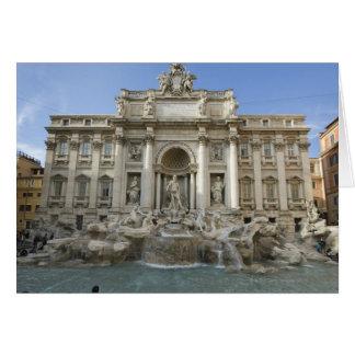 Historic Trevi Fountain in Rome, Italy Card