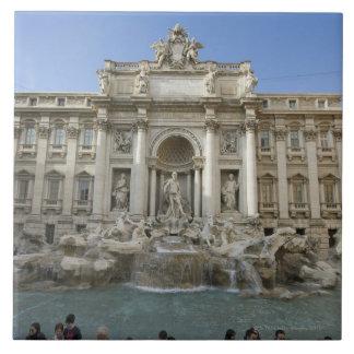 Historic Trevi Fountain in Rome, Italy Tile