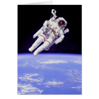 Historic Untethered Space Walk Greeting Card
