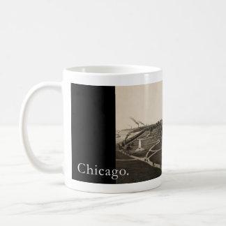 Historic view OF Grant park, Chicago (around 1880) Coffee Mug