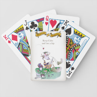 Historic Yorkshire Cricket 'keep calm' Bicycle Playing Cards