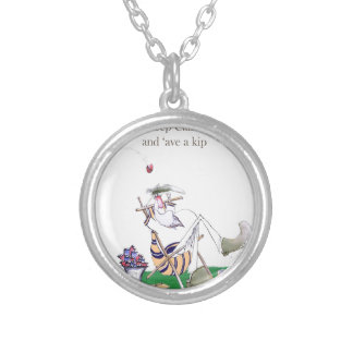 Historic Yorkshire Cricket 'keep calm' Silver Plated Necklace