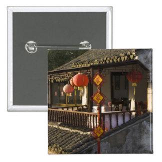 Historic Zhouzhuang Water Village, Zhouzhuang, 15 Cm Square Badge