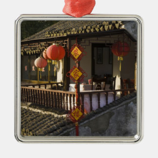 Historic Zhouzhuang Water Village, Zhouzhuang, Silver-Colored Square Decoration
