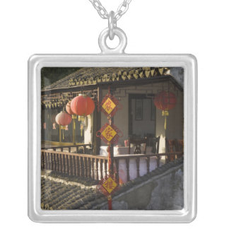 Historic Zhouzhuang Water Village, Zhouzhuang, Square Pendant Necklace