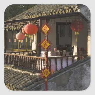 Historic Zhouzhuang Water Village, Zhouzhuang, Square Stickers