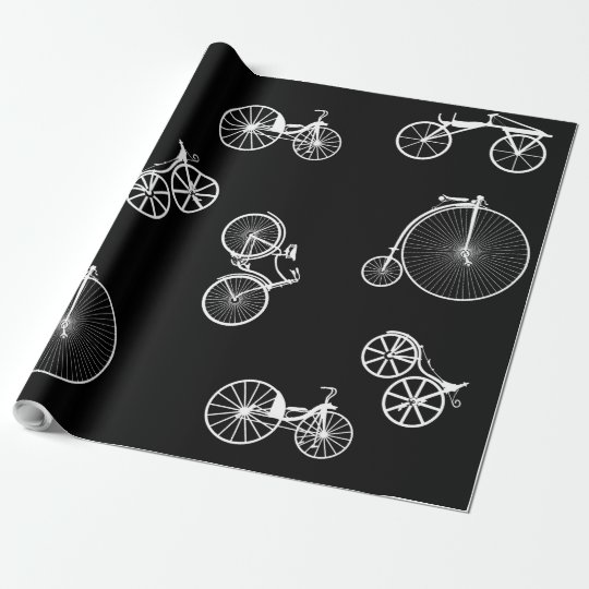 Historical Bicycle Wrapping Paper