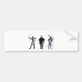 Historical Britain England 15th Century Knights Bumper Stickers