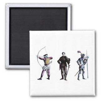 Historical Britain England 15th Century Knights Fridge Magnets