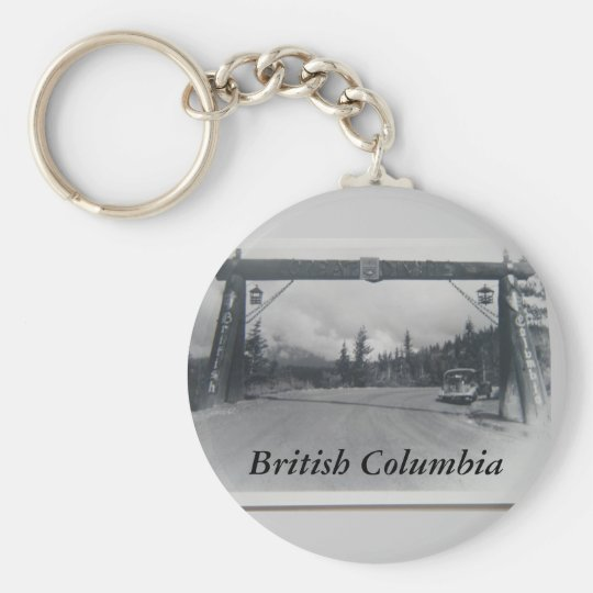 Historical British Columbia keychain
