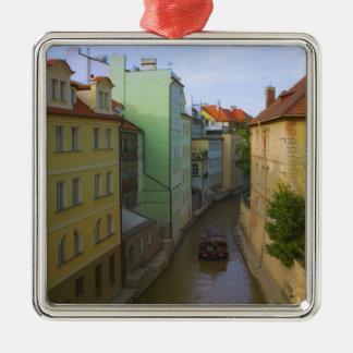 Historical buildings with canal, Prague, Czech Christmas Ornament