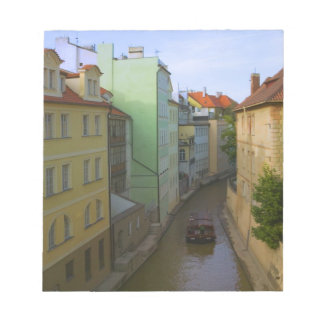 Historical buildings with canal, Prague, Czech Notepad